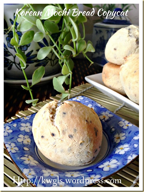 Let's Prepare Mochi Bread From Scratch–Korean Black Sesame Mochi Bread (韩国黑芝麻麻糬面包)