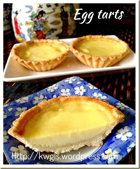 Hong Kong Short Crust Pastry Egg Tarts (港式蛋挞)