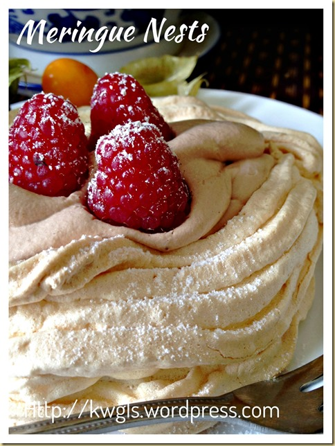 A Simple Sweet Indulgence–Meringue Nests With Rich Chocolate Mousse Fillings (蛋白酥皮巢)
