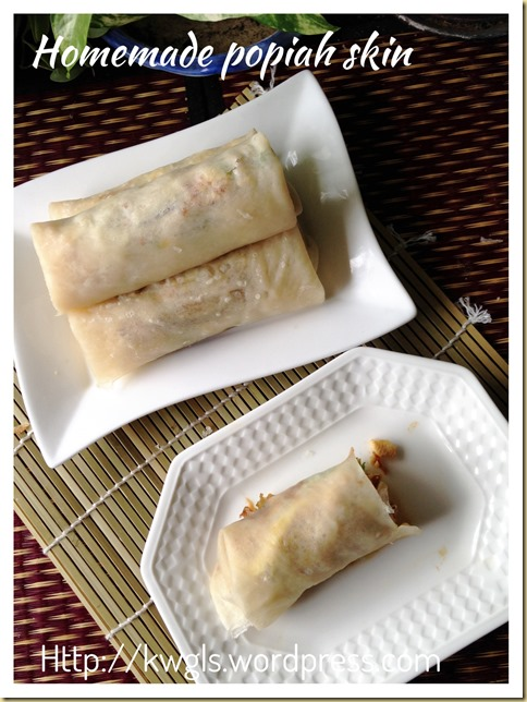 Homemade Spring Roll Crepes–Popiah Skin (春卷皮,薄饼皮, 润饼皮)
