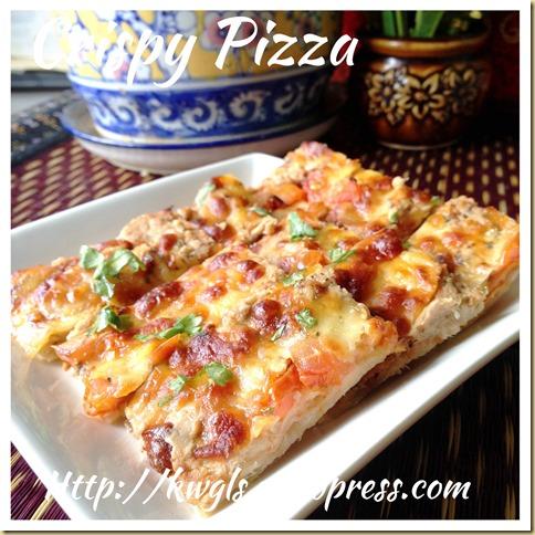 Bacon/Tuna Tortilla Cups and Pizza Snack (烙饼小吃)