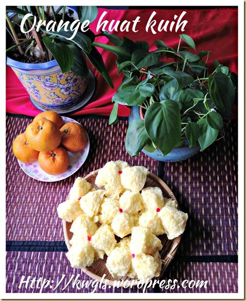 Orange Huat Kuih (香橙发糕)