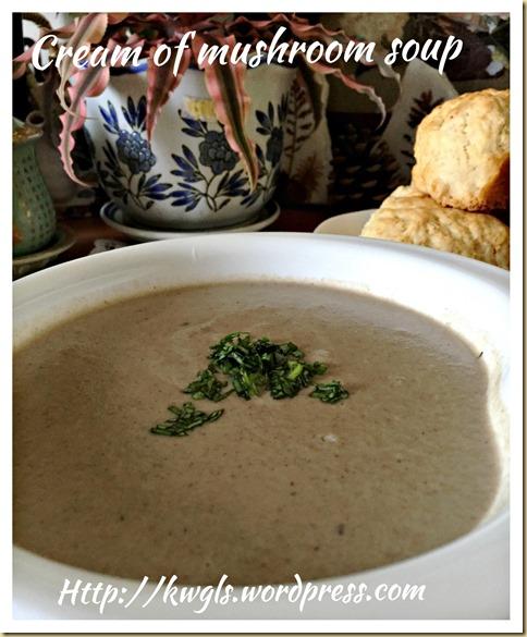 Cream of Mushroom Soup (蘑菇汤)