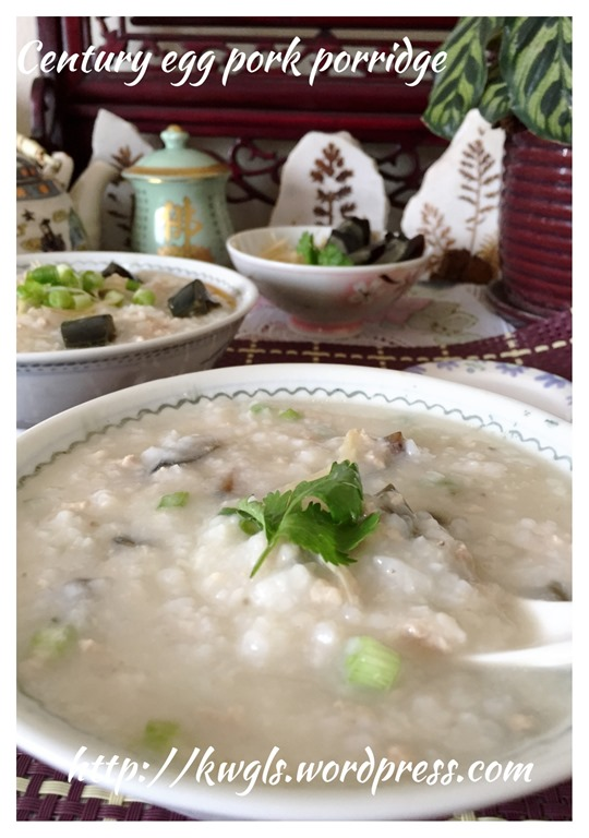 how to cook congee with pork and century egg