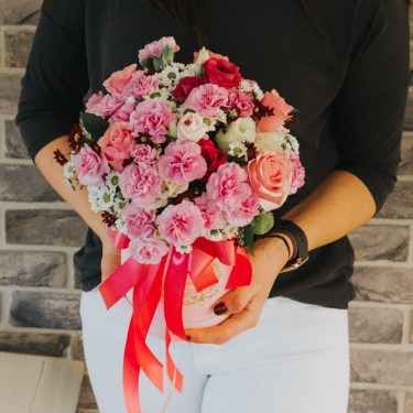flowerbox kwiaty w pudełku