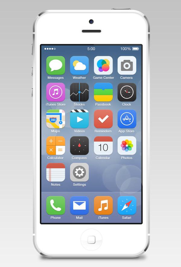 iOS7 Reimagined by Zane David