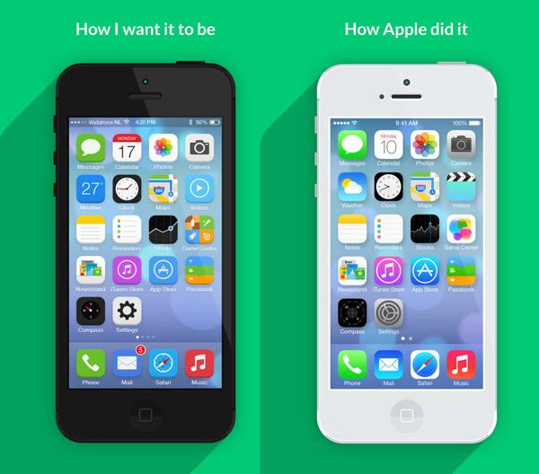 How I want iOS7 to look by Jeffrey de Goot
