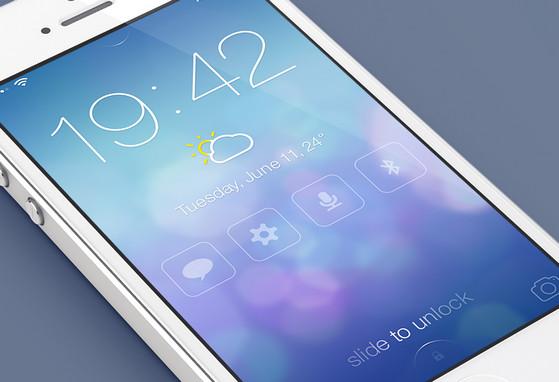 iOS7 Lock screen - Redesign by Mariusz