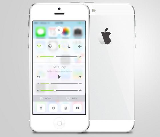 iOS Control Center Redesign by Sam Nissinen
