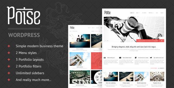 poise 35 Impressive WordPress Themes of April 2012