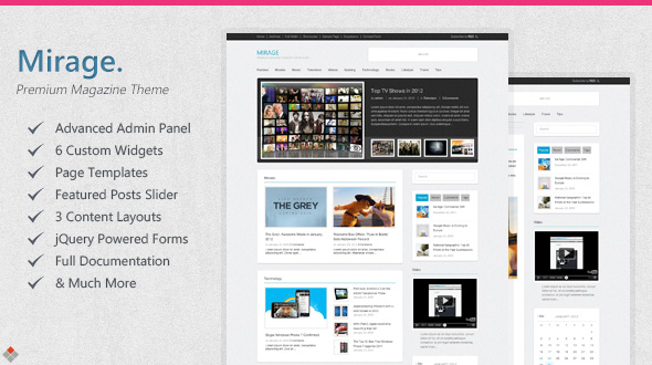 mirage 35 Impressive WordPress Themes of April 2012