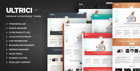 ultrici 35 Impressive WordPress Themes of April 2012