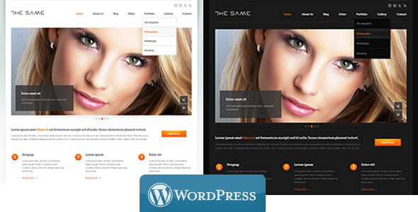 the same 35 Impressive WordPress Themes of April 2012