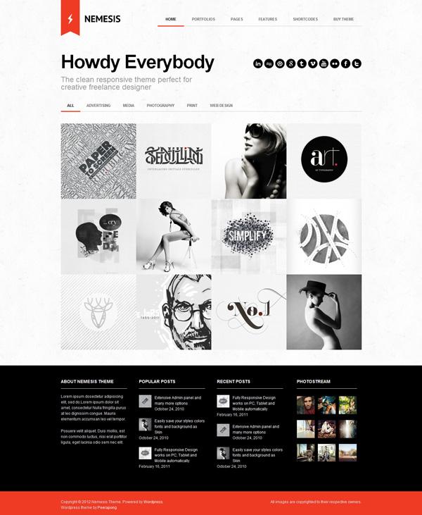 nemesis Best 30 WordPress Themes of June 2012