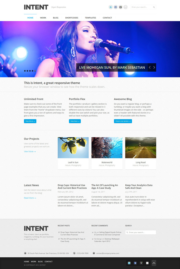 intent Best 30 WordPress Themes of June 2012