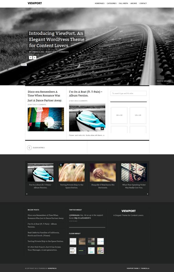 viewport Best 30 WordPress Themes of June 2012