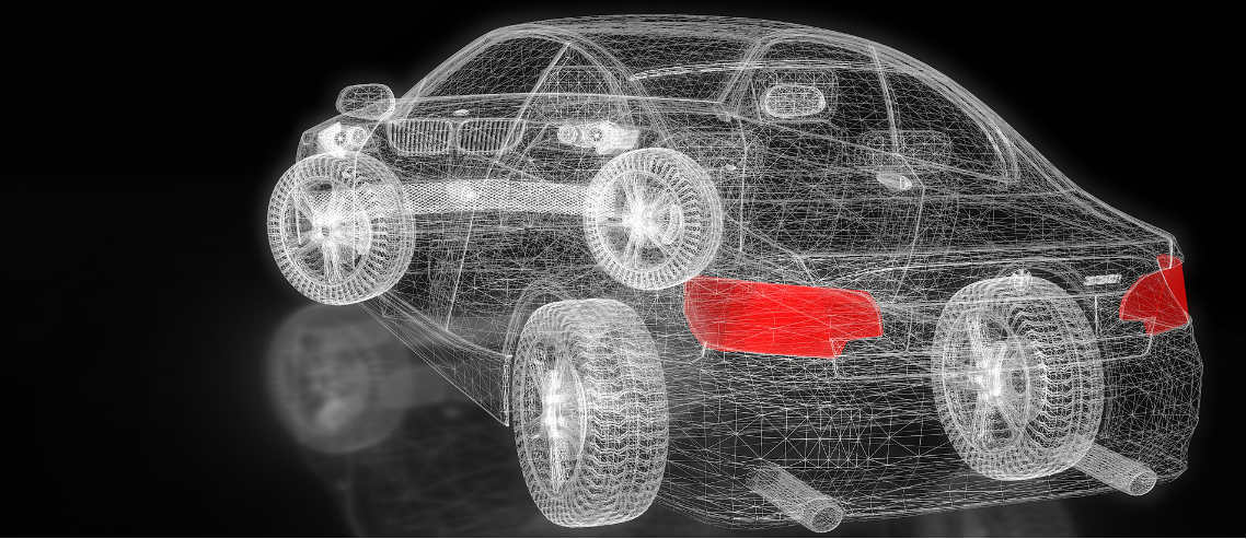 a digital image of a car outlines the need to understand motoring technology and how things like Telematics can impact the cost of your car insurance plan