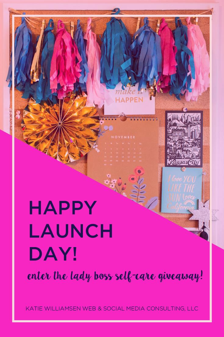 Happy Launch Day // Katie Williamsen Web & Social Media, LLC