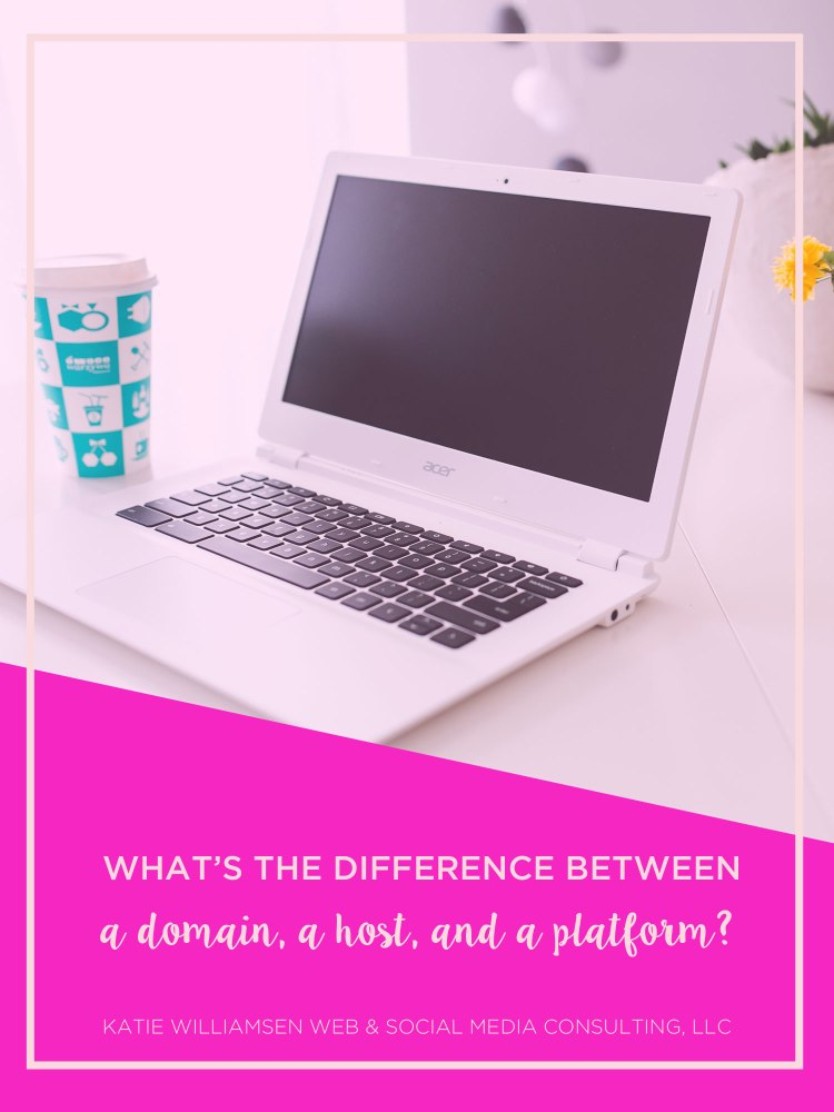What's the Difference Between a Domain, a Host, and a Platform? // Katie Williamsen Web & Social Media Consulting, LLC