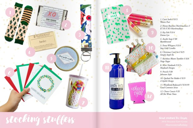 Heart Center Biz Bosses Holiday Gift Guide 2016 - Stocking Stuffers