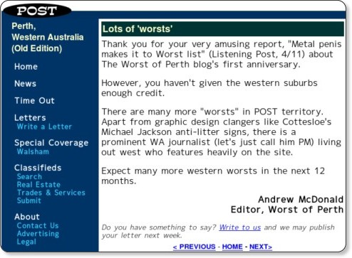 http://www.postnewspapers.com.au/20081011/letters/004.shtml