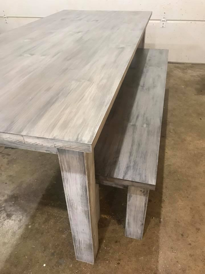 White Wash Finish Table Delaware