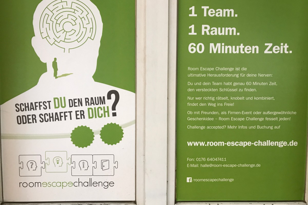 Das war unsere #1 CREATIVE COUCH im ROOM ESCAPE CHALLENGE Halle Slide 1