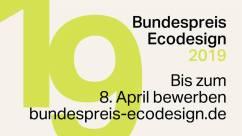 Bundespreis Ecodesign 2019 ist ausgeschrieben!