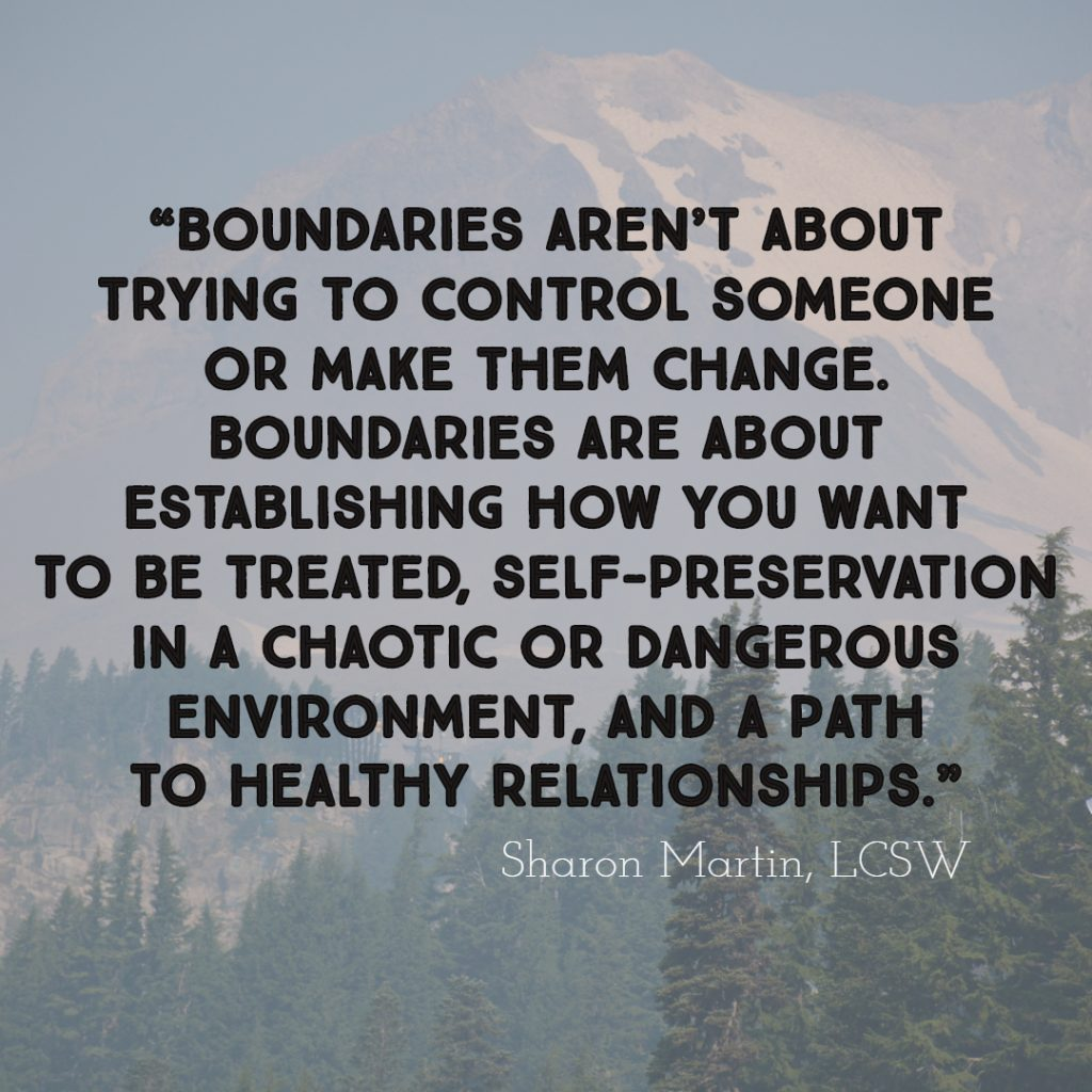 Maintaining Healthy Boundaries