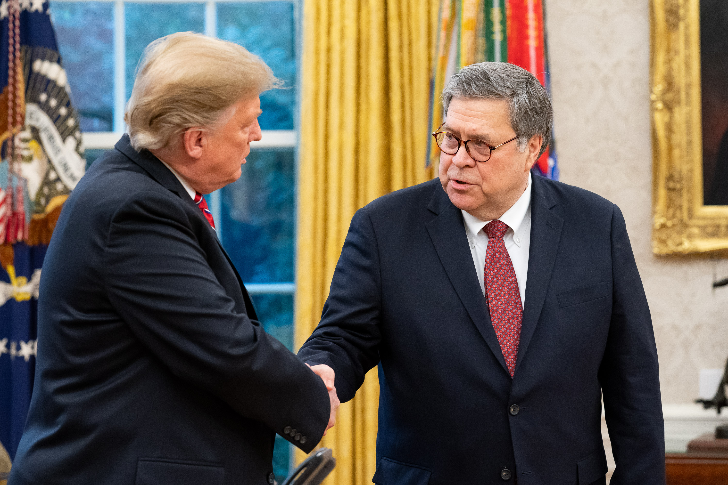 Image result for trump and William Barr pics
