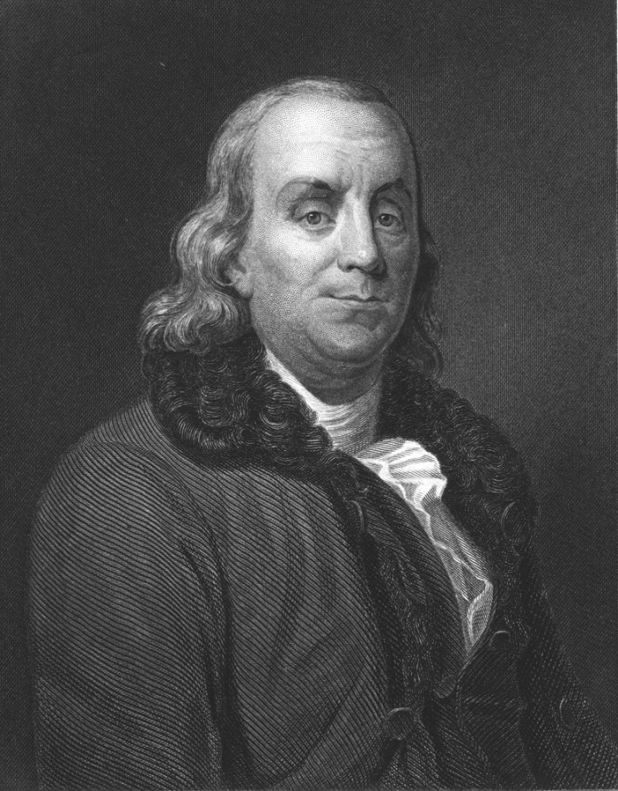 American statesman, writer and scientist Benjamin Franklin (1706 – 1790)