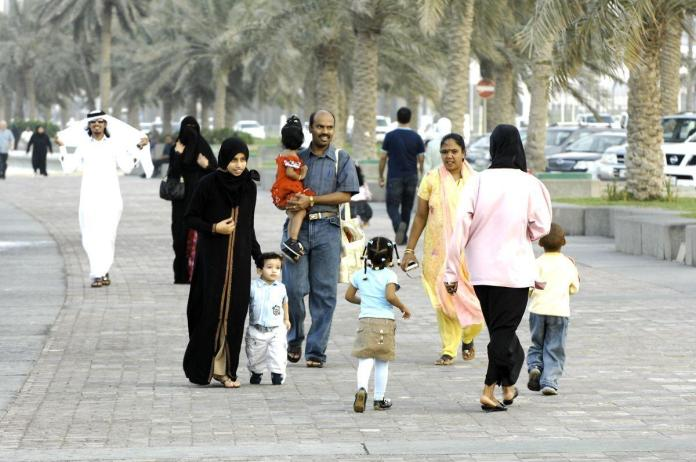 Reduction in rate of increase in number of expats