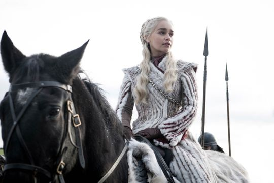 "Emilia Clarke as Daenerys Targaryen on ""Game of Thrones."""