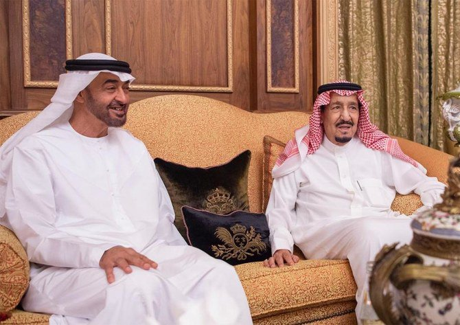 King Salman of Saudi Arabia receives Dubai Crown Prince