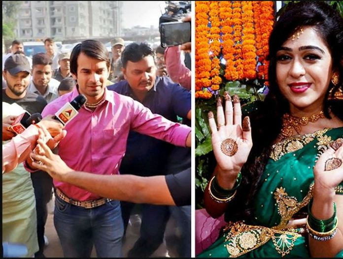 Aishwarya Rai spouse of Tej Pratap Yadav leaves home teary-eyed