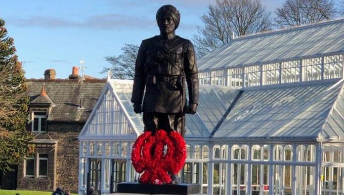 UK: Govt of United Kingdom unveils the statue of Sikh Soldier as honor