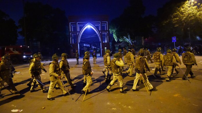 India: Today, all schools in South East Delhi remain closed after clashes outside Jamia Millia Islamia