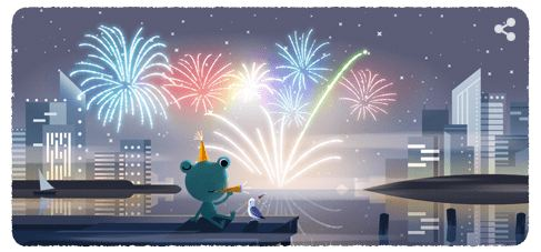 New Year's Eve 2019: Google Doodle is highlighting the frog and the sparklers with all that buzz