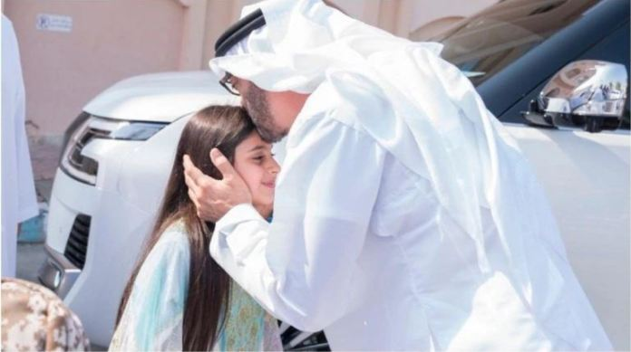 Internet is in Shock; When Abu Dhabi Crown Prince is paying a surprise visit to a girl who couldn't shake his hand