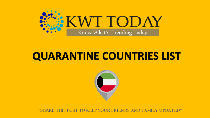 14 Days Quarantine compulsory for passengers returning to Kuwait from these countries