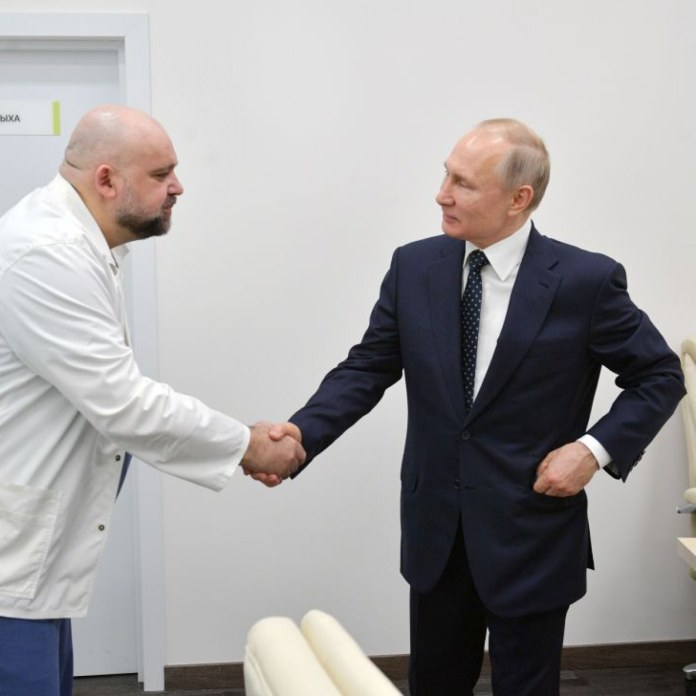 Doctor who met Russian PM Putin last week 'tests positive'