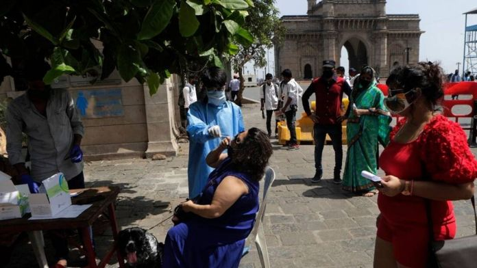 Mumbai reported over 9000 cases in a day
