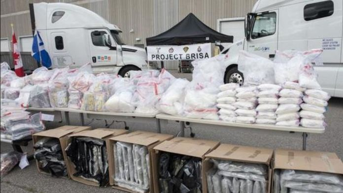 Canada : Toronto police seized 1000 kg drugs from cross-border smuggling ring