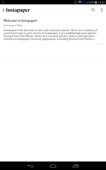 And this is the old school one of Instapaper