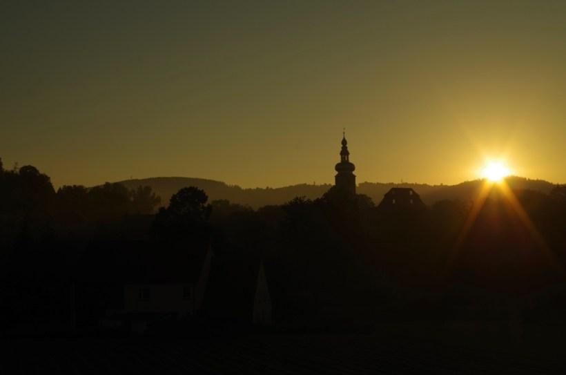 Sudety - Ścinawka, wschód słońca