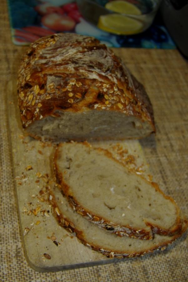 Pierwszy chleb z kromeczkami