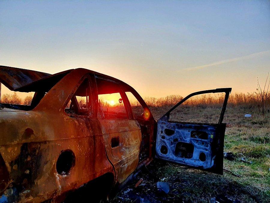 Wrak dzięki uprzejmości Adam Adams - zachód słońca