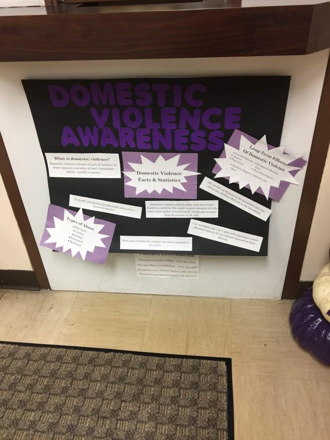 Domestic Violence Awareness Display MPSD