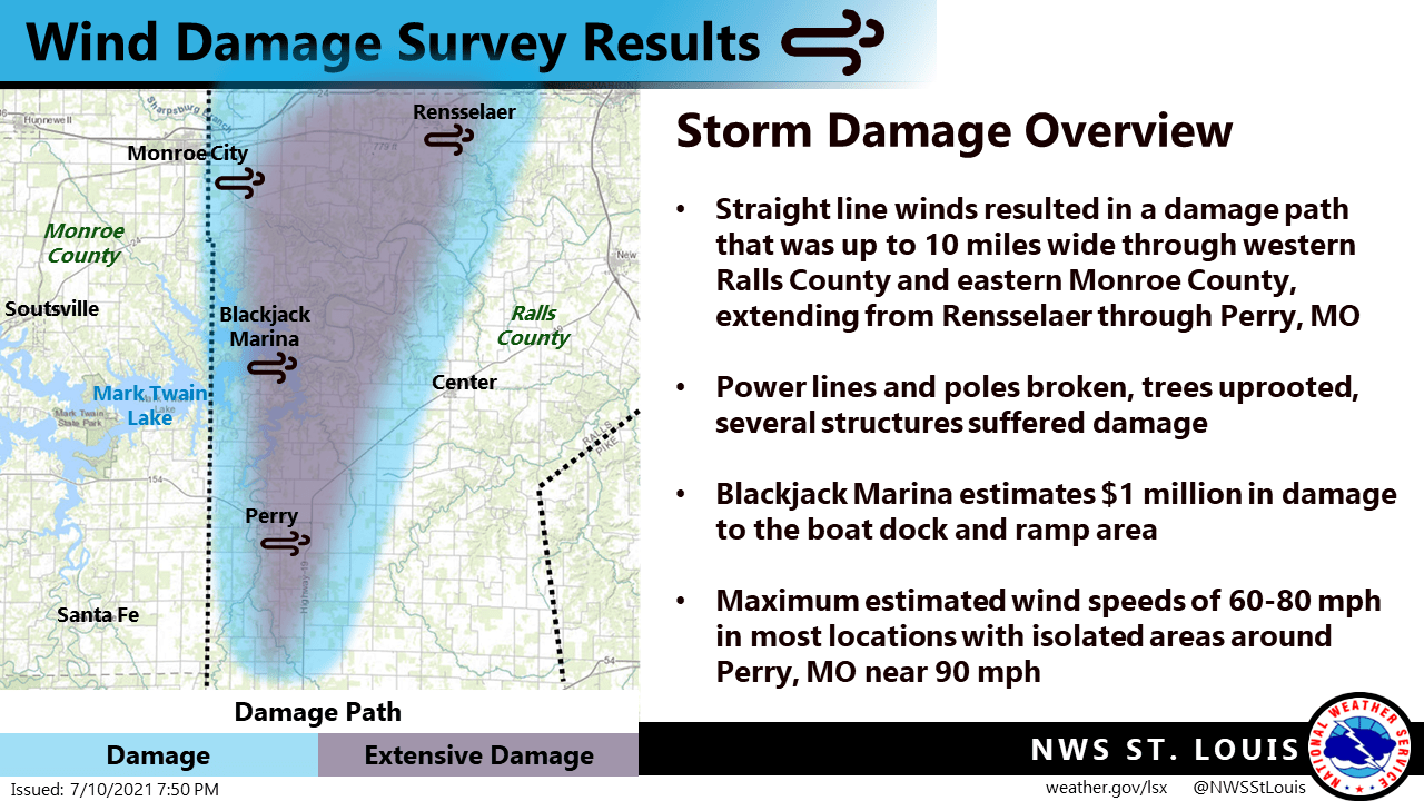 National Weather Service Completes Wind Damage Survey For Ralls And Monroe Counties