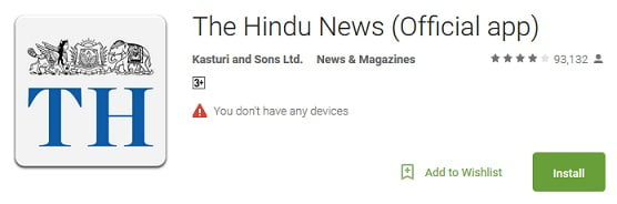 the hindu news app download